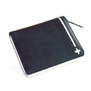 C カンパニー クローチェシリーズ ネイビー・ホワイト ラウンド財布 cro-808NB|nomado1230
