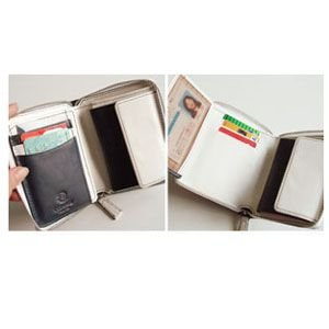 C カンパニー クローチェシリーズ ネイビー・ホワイト ラウンド財布 cro-808NB nomado1230 05