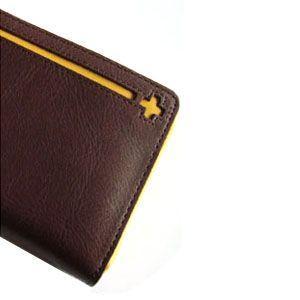 メンズ 長財布 革 C カンパニー クローチェシリーズ ダークブラウン・イエロー 長財布 cro-809DB|nomado1230|06
