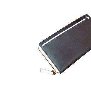 C カンパニー クローチェシリーズ ネイビー・ホワイト 長財布 cro-809NB|nomado1230