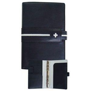 システム手帳 バイブル 革 C カンパニー クローチェシリーズ バイブルサイズ ネイビー システム手帳 cro-815NB|nomado1230