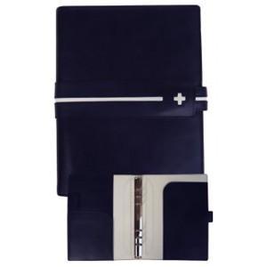システム手帳 A5 C カンパニー クローチェシリーズ A5サイズ ネイビー システム手帳 cro-820NB|nomado1230