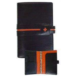 C カンパニー クローチェシリーズ バイブルサイズ ブラック システム手帳&名刺入れ&マルチペン&パンチ スペシャルギフトセット cro-815BKGIFT|nomado1230