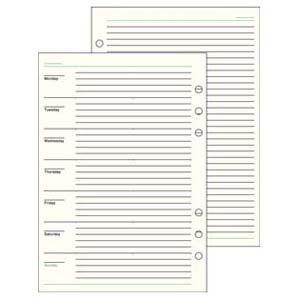 リフィル A5 ダヴィンチ システム手帳 リフィル A5サイズ スケジュール フリー ウィークリースケジュール Bタイプ 5冊セット DAR291|nomado1230