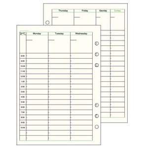 リフィル A5 ダヴィンチ システム手帳 リフィル A5サイズ スケジュール フリー ウィークリースケジュール Dタイプ 5冊セット DAR292|nomado1230