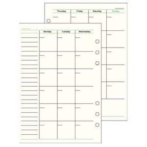 リフィル A5 ダヴィンチ システム手帳 リフィル A5サイズ スケジュール フリー マンスリースケジュール 5冊セット DAR293|nomado1230