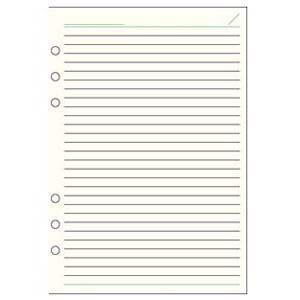 リフィル A5 ダヴィンチ システム手帳 リフィル A5サイズ ノート 横罫ノート 5冊セット 6.5ミリ罫 DAR295|nomado1230