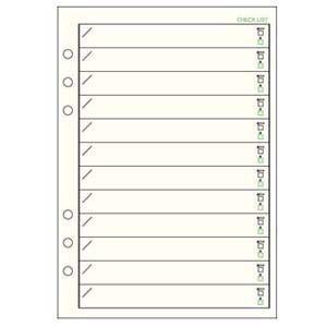 リフィル A5 ダヴィンチ システム手帳 リフィル A5サイズ 情報 チェックリスト 5冊セット DAR298|nomado1230