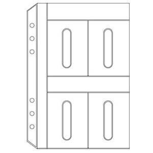 リフィル A5 ダヴィンチ システム手帳 リフィル A5サイズ アクセサリー カードホルダー 5冊セット DAR321|nomado1230