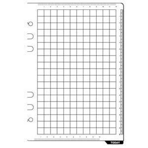 リフィル A5 ダヴィンチ システム手帳 リフィル A5サイズ アクセサリー 下敷き&スケール 5冊セット DAR325|nomado1230