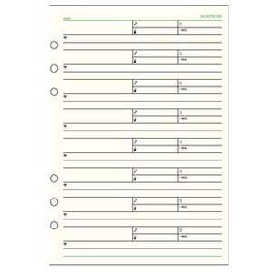 リフィル A5 ダヴィンチ システム手帳 リフィル A5サイズ 情報 アドレス 1ページ8名 5冊セット DAR408|nomado1230