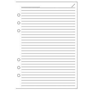 リフィル A5 ダヴィンチ システム手帳 リフィル A5サイズ 徳用ノート 横罫ノート 「6.5ミリ」 5冊セット ホワイト DAR455|nomado1230
