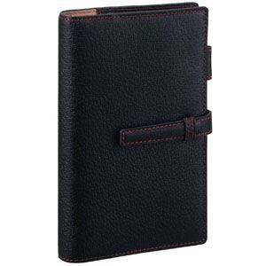 システム手帳 バイブル 革 ダヴィンチ ピッグスキン バイブル 15ミリ システム手帳 ブラック DB1050B|nomado1230