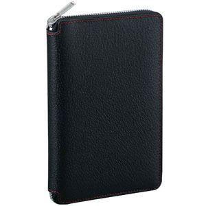 ダヴィンチ ピッグスキン ラウンドファスナー 聖書サイズ 15ミリ システム手帳 ブラック DB1402B|nomado1230