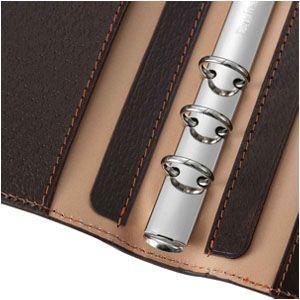 ダヴィンチ ピッグスキン ラウンドファスナー 聖書サイズ 15ミリ システム手帳 ブラック DB1402B|nomado1230|04