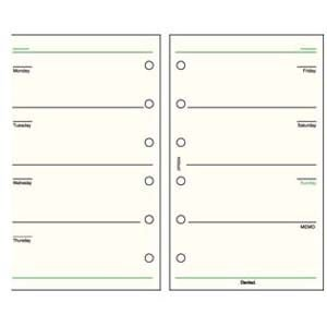 リフィル ポケットサイズ ダヴィンチ システム手帳 リフィル ポケットサイズ スケジュール フリー ウィークリースケジュール 5冊セット Aタイプ DPR204|nomado1230