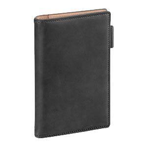 ダヴィンチ ダ・ヴィンチ グランデ アースレザー ポケットサイズ リング11ミリ システム手帳 ブラック JDP805B|nomado1230
