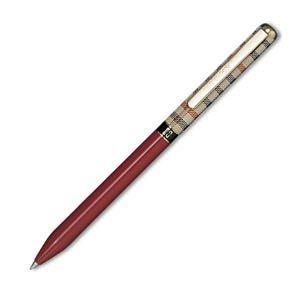 高級 マルチペン 名入れ ダックス(DAKS) ハウスチェック カラー マルン マルチペン 66-1027-232|nomado1230