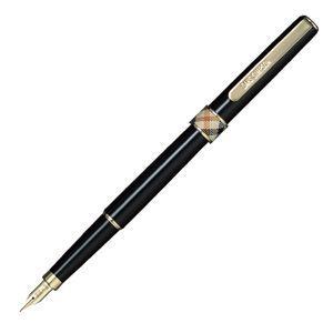 万年筆 名入れ ダックス(DAKS) ハウスチェック クロスリング 万年筆 ブラック 66-1131-P|nomado1230