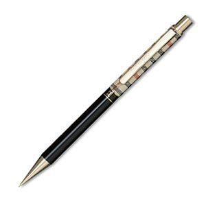 シャーペン 高級 名入れ ダックス(DAKS) ハウスチェック カラー ブラック 0.5ミリ シャープペンシル 66-1330-520|nomado1230