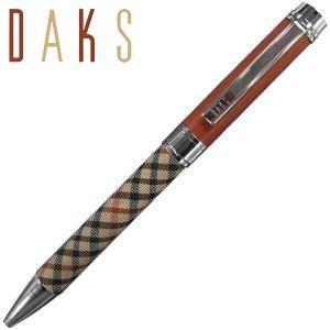 高級 ボールペン ダックス(DAKS) レジェンド クロスレザー ボールペン 1.0ミリ 66-1240-620|nomado1230