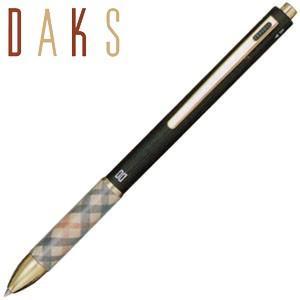 高級 マルチペン 名入れ ダックス(DAKS) DAKS ブリーズ3 2色ボールペン+シャープペンシル マルチペン マットブラック 66-1224-220|nomado1230