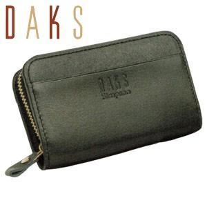 コインケース メンズ 革 名入れ ダックス(DAKS) DAKS 牛革 小銭入れ ファスナー ブラック 66-1743-000|nomado1230