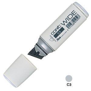 アルコールマーカー トゥー コピック ワイド COPIC WIDE アルコール染料 インクペン 5本セット Cool Gray No.3 WIDE-C3|nomado1230