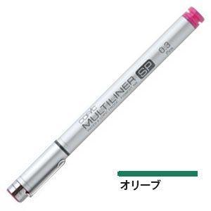 トゥー コピック マルチライナーSP 水性顔料インクペン 0.3ミリ オリーブ 12本セット MULTILINERSPC-03OL|nomado1230