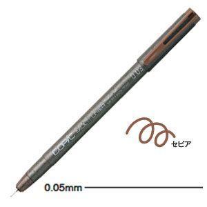 ドローイングペン トゥー コピック マルチライナー ラインドローイングペン 0.05ミリ セピア 12本セット MULTILINER-SP005|nomado1230