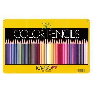 トンボ鉛筆 スタンダード 36色 缶入り 色鉛筆 CB-NQ36C|nomado1230