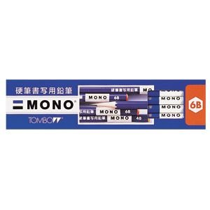 鉛筆 4B トンボ鉛筆 モノ 12本入り 4B 硬筆書写用鉛筆 KM-KKS4B|nomado1230