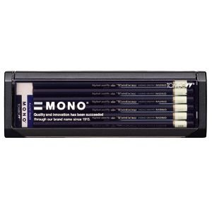 鉛筆 トンボ鉛筆 モノ プラケース入り鉛筆 12本入り 6H MONO-6H|nomado1230