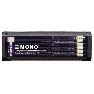鉛筆 トンボ鉛筆 モノ プラケース入り鉛筆 12本入り 6B MONO-6B|nomado1230