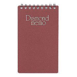 メモ デザインフィル ミドリ ステーショナリー ダイヤメモ M 10冊セット 赤 No. 19002021 nomado1230