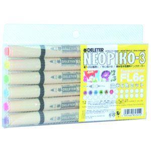 水性ペン デリーター ネオピコ-3 蛍光6色セット No. 3112300|nomado1230