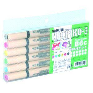 水性ペン デリーター ネオピコ-3 基本6色セット No. 3112301|nomado1230