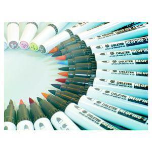 水性ペン デリーター ネオピコ-3 基本12色セット No. 3112302|nomado1230|02