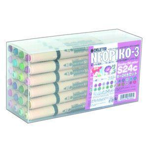 水性ペン デリーター ネオピコ-3 スモーキーカラー24色セット No. 3112306|nomado1230