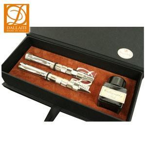 ダライッティ(DALLAITI) モザイク ラグジュアリーボックス 万年筆・ボールペンセット (ホワイトベージュ) AKR104|nomado1230