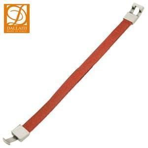 ブレスレット 革 ダライッティ(DALLAITI) ブレスレット カラーレザー Lサイズ オレンジ BC35|nomado1230