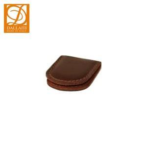マネークリップ 名入れ ダライッティ(DALLAITI) 本皮製 マネークリップ 茶 FS05|nomado1230