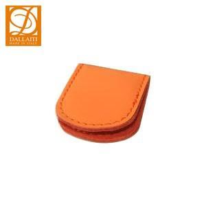 マネークリップ 名入れ ダライッティ(DALLAITI) 本皮製 マネークリップ オレンジ FS05|nomado1230
