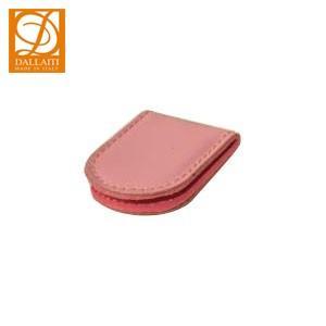 マネークリップ 名入れ ダライッティ(DALLAITI) 本皮製 マネークリップ ピンク FS05|nomado1230