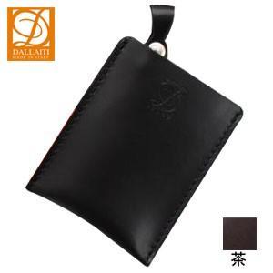 カードケース メンズ 名入れ ダライッティ(DALLAITI) 本皮製 カードケース 茶 PE32|nomado1230