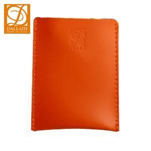 カードケース レディース 名入れ ダライッティ(DALLAITI) 本皮製 カードケース オレンジ PE32|nomado1230