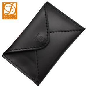 名刺入れ メンズ 名入れ ダライッティ(DALLAITI) 本皮製 名刺入れ・カードケース 黒 PE44|nomado1230