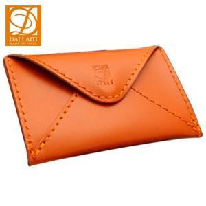 名刺入れ レディース 革 名入れ ダライッティ(DALLAITI) 本皮製 名刺入れ・カードケース オレンジ PE44|nomado1230