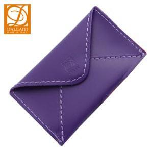 名刺入れ レディース 革 名入れ ダライッティ(DALLAITI) 本皮製 名刺入れ・カードケース ヴァイオレット PE44 nomado1230
