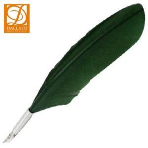 羽ペン ダライッティ(DALLAITI) ビビッドカラー オリーブグリーン ショート羽根ペンセット PIU03|nomado1230
